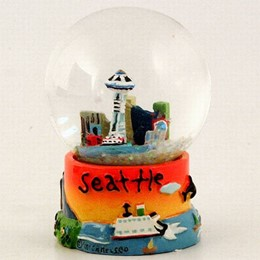 Seattle Puff Hand Painted Snowglobe (45mm)