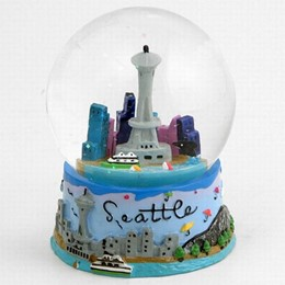 Seattle Umbrellas Hand Painted Snowglobe (60mm)