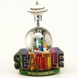 Seattle Large Spellout Snowglobe (45mm)