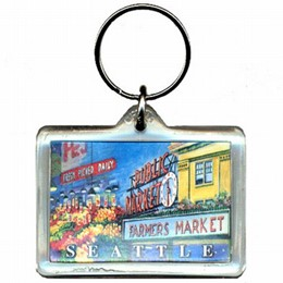 Seattle Pike Place Keychain