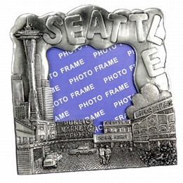 Seattle Pike Place Small Pewter Picture Frame