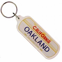Oakland License Plate Keychain