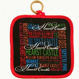 Central Coast Hearst Castle Typography Hotpad