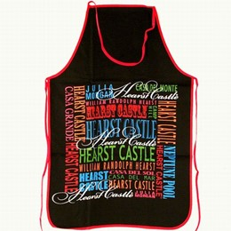 Central Coast Hearst Castle Typography Apron