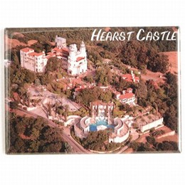 Central Coast Hearst Castle Aerial Photo Magnet