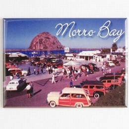 Central Coast Morro Bay Woodys Photo Magnet