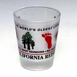 California Souvenir Redwoods Expressions Frost Shot Glass