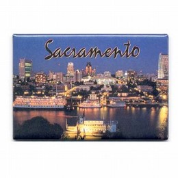 Sacramento River Metal Photo Magnet