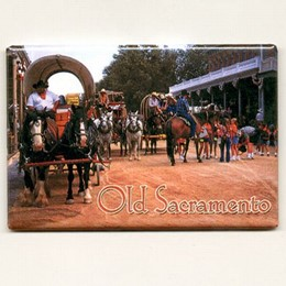 Old Sacramento Photo Magnet