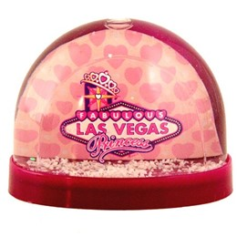 Las Vegas Princess Small Purple Snowglobe
