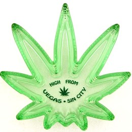 "Las Vegas ""High From Las Vegas Sin City"" Green Ashtray"