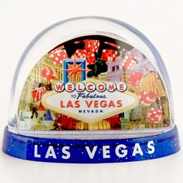 Las Vegas Dice Collage Large 3 Panel Snowglobe