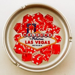 Las Vegas Dice Metallic Silver Ashtray