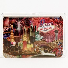 Las Vegas Fireworks Photo Collage Playing Cards