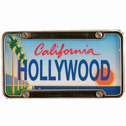Hollywood Mini License Plate Magnet