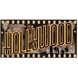 Hollywood Hello Photo Magnet