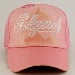 Hollywood Shiny Glitter Script PInk Hat