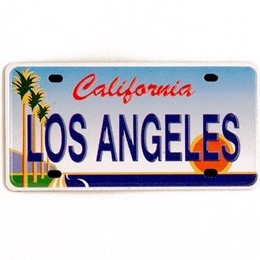 Los Angeles Mini License Plate Metal Magnet