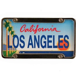 Los Angeles Mini License Plate Magnet