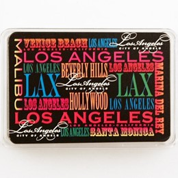 Los Angeles Typography Playing Cards