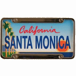 Santa Monica Mini License Plate Magnet