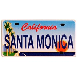 Santa Monica Mini License Plate Metal Magnet