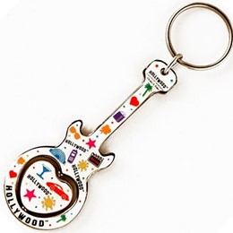 Hollywood Expressions Guitar Spinner Keychain