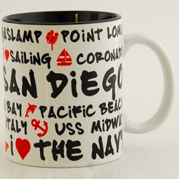 San Diego White Graffiti 11oz Mug
