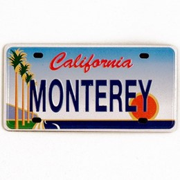 Monterey Mini License Plate Metal Magnet