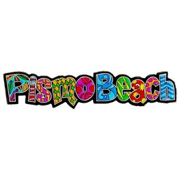 Pismo Beach Spellout Laser Magnet