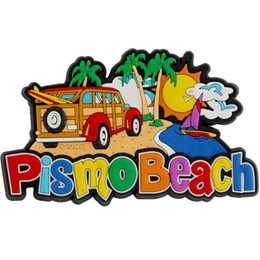 Pismo Beach Woody Laser Magnet
