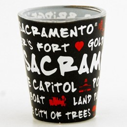 Sacramento Black Graffiti Shotglass