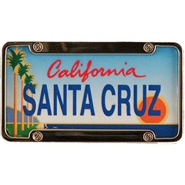 Santa Cruz Mini License Plate Magnet
