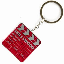 Hollywood Clapper Glitter Keychain