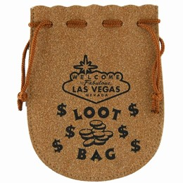 Las Vegas Sign Suede Loot Bag