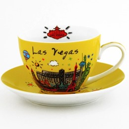 Las Vegas Sign/Subway Cup and Saucer