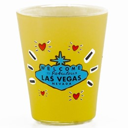 Las Vegas Subway (Blue) Shotglass