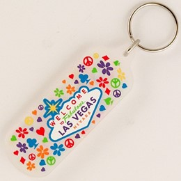 Las Vegas Paisley Frosted Acrylic Keychain