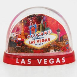 Las Vegas Fireworks Collage 3-Panel Snowglobe