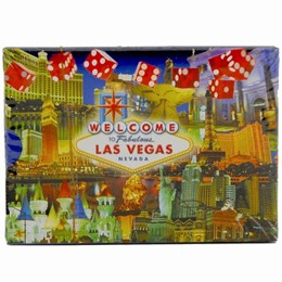 Las Vegas Dice Collage Boxed Playing Cards