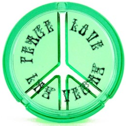 Las Vegas Peace Sign Relief Green Ashtray
