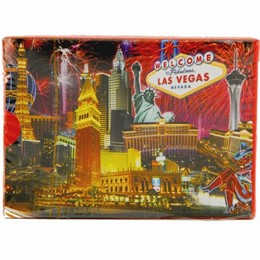 Las Vegas Fireworks Collage Boxed Play Cards