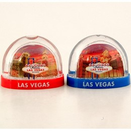 Las Vegas Skyline Dusk Small 2-Side Snowglobe (each)