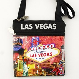 Las Vegas Fireworks Collage Square Disco Canvas Bag