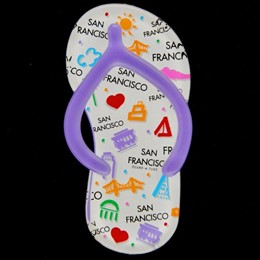 San Francisco Expressions Large Purple Sandal Acrylic Magnet