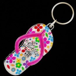 San Francisco Flowers Hot Pink Sandal Acrylic Keychain
