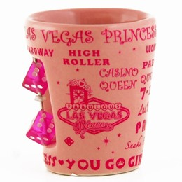 Las Vegas Casino Queen Dice Pink Princess Shotcup
