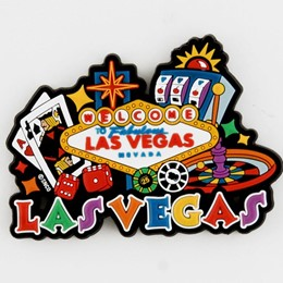 Las Vegas Sign/gaming Laser Magnet