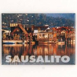 "Sausalito Houseboats 2""x3"" Photo Magnet."