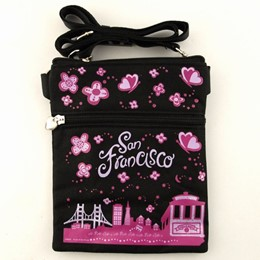 San Francisco Easy Going Canvas with Glitter Hip Bag